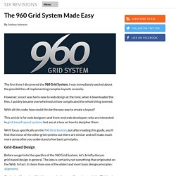 The 960 Grid System Made Easy