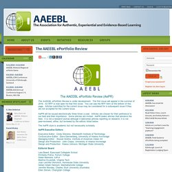The AAEEBL ePortfolio Review