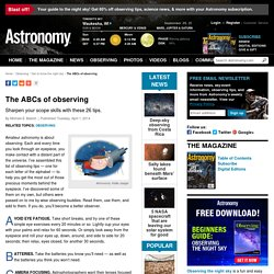 The ABCs of observing