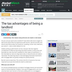 The tax advantages of being a landlord - TaxWatch