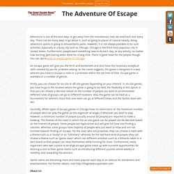 The Adventure Of Escape
