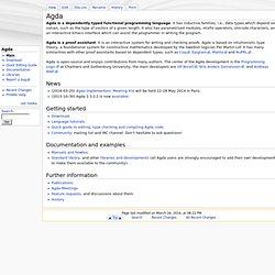 The Agda Wiki - Agda
