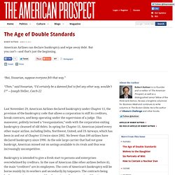 The Age of Double Standards
