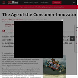 The Age of the Consumer-Innovator