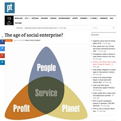 The age of social enterprise?