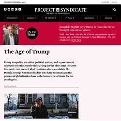 The Age of Trump by Joseph E. Stiglitz