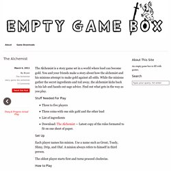 The Alchemist — Empty Game Box