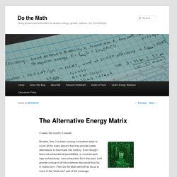 The Alternative Energy Matrix