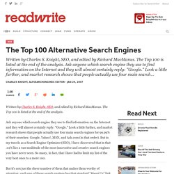 The Top 100 Alternative Search Engines