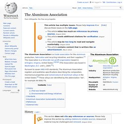 The Aluminum Association