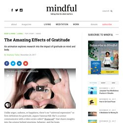 The Amazing Effects of Gratitude