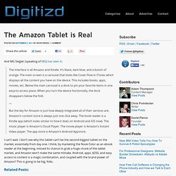 The Amazon Tablet is Real