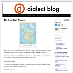 American Accents and Dialects