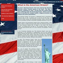 The American Dream - What is the American Dream?