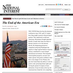 The End of the American Era
