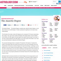 The Anaretic Degree