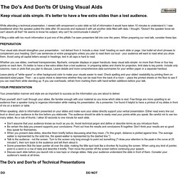 The Do's And Don'ts Of Using Visual Aids