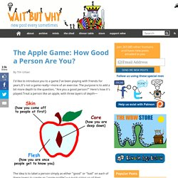 The Apple Game: How Good a Person Are You?