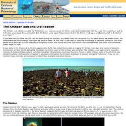 The Archean Eon and the Hadean