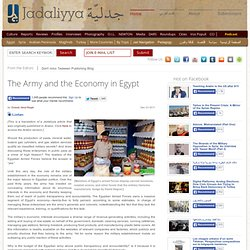 The Army and the Economy in Egypt