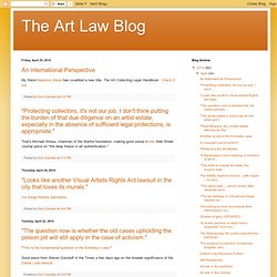 The Art Law Blog