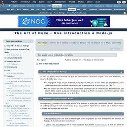 The Art of node - introduction à Node.js