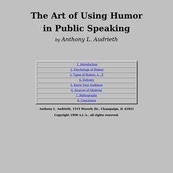 The Art of Using Humor in Public