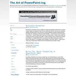 The Art of PowerPoint-ing