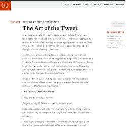 Rands In Repose The Art of the Tweet