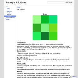The Arts - Audrey's Allusions