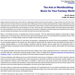 The Arts in Worldbuilding