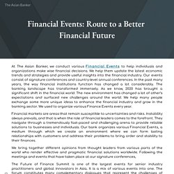 Financial Events: Route to a Better Financial Future
