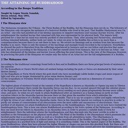 THE ATTAINING OF BUDDHAHOOD