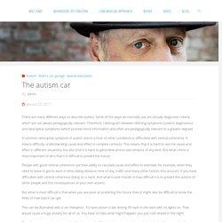 The autism car – Bo Hejlskov Elvén