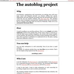 The autoblog project