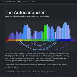 The Autocanonizer
