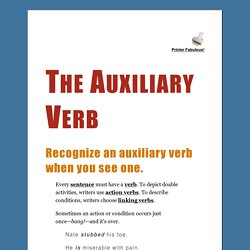 The Auxiliary Verb