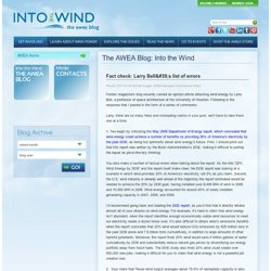The AWEA Blog: Into the Wind