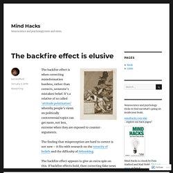 The backfire effect is elusive