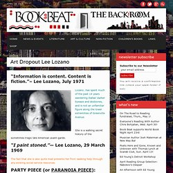 The Book Beat » Art Dropout Lee Lozano