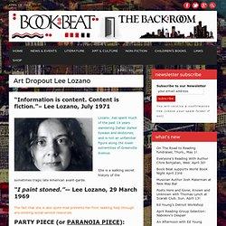 The Book Beat » Art Dropout Lee Lozano