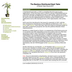 The Bamboo DHT -- Introduction