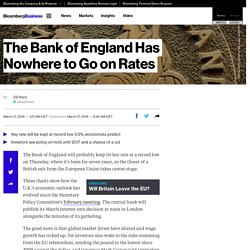 The Bank of England Has Nowhere to Go on Rates