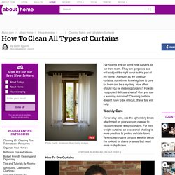 The Basics of Cleaning Curtains
