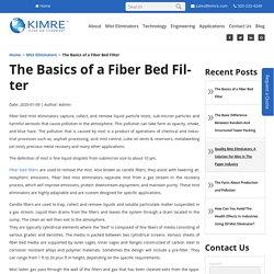 The Basics of a Fiber Bed Filter - Kimre Inc.