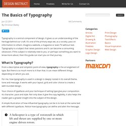 The Basics of Typography