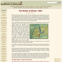 The Battle of Shiloh, 1862