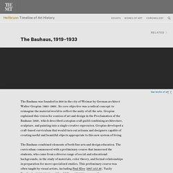 The Bauhaus, 1919–1933