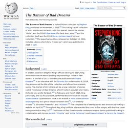 The Bazaar of Bad Dreams - Wikipedia