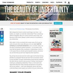 The beauty of uncertainty